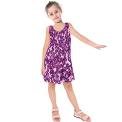 Chic Camouflage Colorful Background Kids  Sleeveless Dress