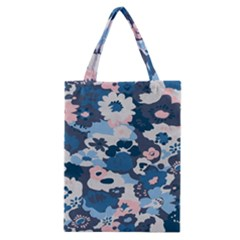 Fabric Wildflower Bluebird Classic Tote Bag