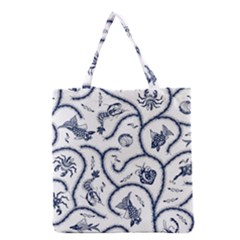 Fish Pattern Grocery Tote Bag