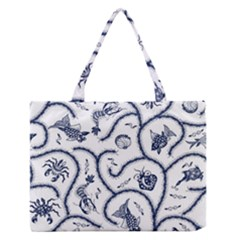 Fish Pattern Medium Zipper Tote Bag by Simbadda