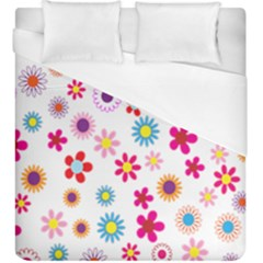 Colorful Floral Flowers Pattern Duvet Cover (king Size)