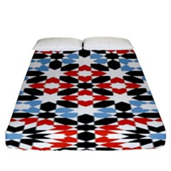 Morrocan Fez Pattern Arabic Geometrical Fitted Sheet (king Size) by Simbadda