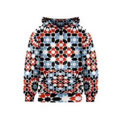 Morrocan Fez Pattern Arabic Geometrical Kids  Zipper Hoodie