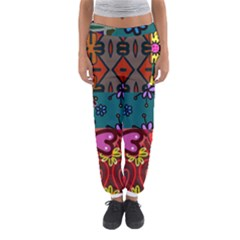Patchwork Collage Women s Jogger Sweatpants by Simbadda