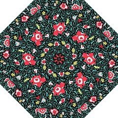 Vintage Floral Wallpaper Background Folding Umbrellas by Simbadda
