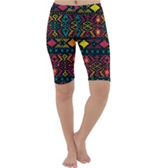 Traditional Art Ethnic Pattern Cropped Leggings