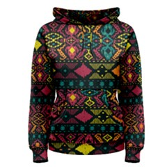 Traditional Art Ethnic Pattern Women s Pullover Hoodie by Simbadda