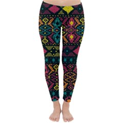 Traditional Art Ethnic Pattern Classic Winter Leggings by Simbadda