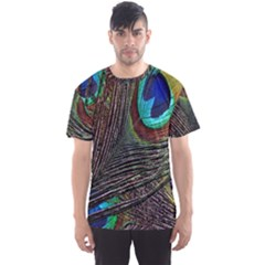 Peacock Feathers Men s Sport Mesh Tee