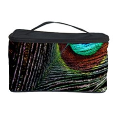 Peacock Feathers Cosmetic Storage Case by Simbadda