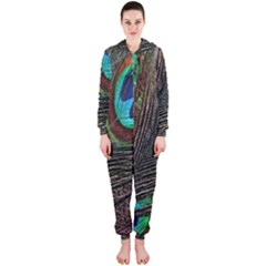 Peacock Feathers Hooded Jumpsuit (ladies)