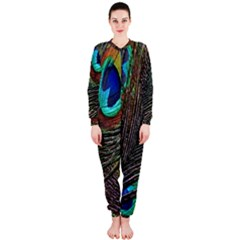 Peacock Feathers Onepiece Jumpsuit (ladies)