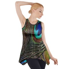 Peacock Feathers Side Drop Tank Tunic