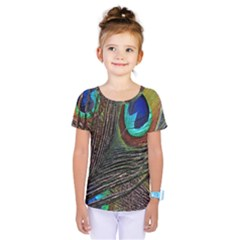 Peacock Feathers Kids  One Piece Tee