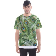 Peacock Feathers Pattern Men s Sport Mesh Tee