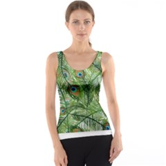 Peacock Feathers Pattern Tank Top