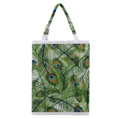 Peacock Feathers Pattern Classic Tote Bag