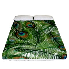 Peacock Feathers Pattern Fitted Sheet (king Size)
