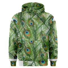 Peacock Feathers Pattern Men s Pullover Hoodie