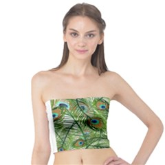 Peacock Feathers Pattern Tube Top
