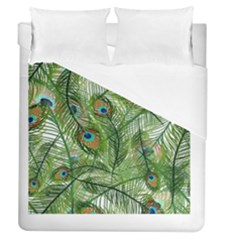 Peacock Feathers Pattern Duvet Cover (queen Size)
