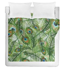 Peacock Feathers Pattern Duvet Cover Double Side (queen Size)