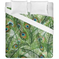 Peacock Feathers Pattern Duvet Cover Double Side (california King Size)