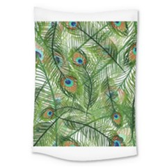 Peacock Feathers Pattern Large Tapestry