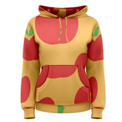 Apple Fruit Red Orange Women s Pullover Hoodie