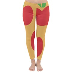 Apple Fruit Red Orange Classic Winter Leggings