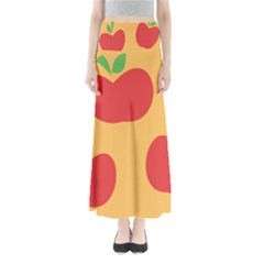 Apple Fruit Red Orange Maxi Skirts