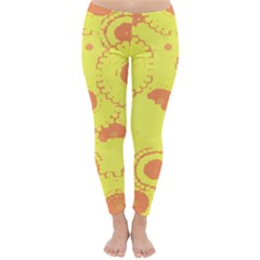 Circles Lime Pink Classic Winter Leggings