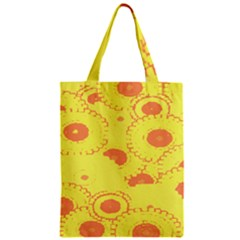 Circles Lime Pink Zipper Classic Tote Bag by Alisyart