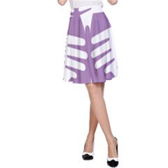 Colorful Butterfly Hand Purple Animals A Line Skirt