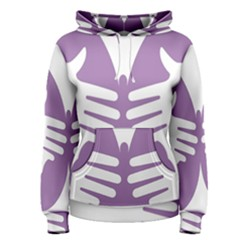 Colorful Butterfly Hand Purple Animals Women s Pullover Hoodie