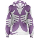 Colorful Butterfly Hand Purple Animals Women s Pullover Hoodie View2
