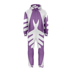 Colorful Butterfly Hand Purple Animals Hooded Jumpsuit (kids)