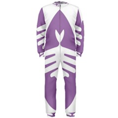 Colorful Butterfly Hand Purple Animals Onepiece Jumpsuit (men)