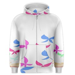 Colorful Butterfly Blue Red Pink Brown Fly Leaf Animals Men s Zipper Hoodie