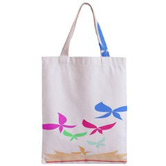 Colorful Butterfly Blue Red Pink Brown Fly Leaf Animals Zipper Classic Tote Bag
