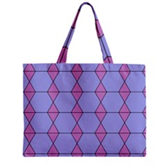 Demiregular Purple Line Triangle Mini Tote Bag by Alisyart