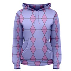 Demiregular Purple Line Triangle Women s Pullover Hoodie