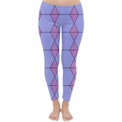Demiregular Purple Line Triangle Classic Winter Leggings