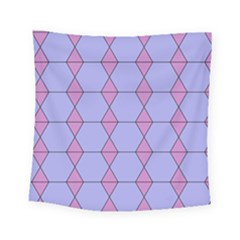 Demiregular Purple Line Triangle Square Tapestry (small) by Alisyart