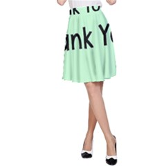 Colorful Butterfly Thank You Animals Fly White Green A Line Skirt
