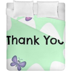 Colorful Butterfly Thank You Animals Fly White Green Duvet Cover Double Side (california King Size)