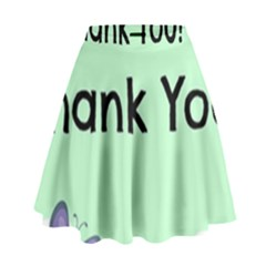 Colorful Butterfly Thank You Animals Fly White Green High Waist Skirt by Alisyart