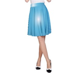Dreams Sun Blue Wave A Line Skirt