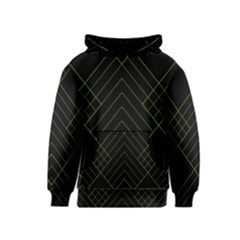 Diamond Green Triangle Line Black Chevron Wave Kids  Pullover Hoodie by Alisyart