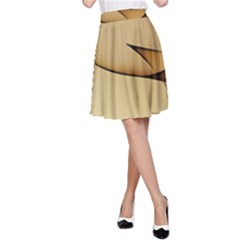 Edge Gold Wave A Line Skirt